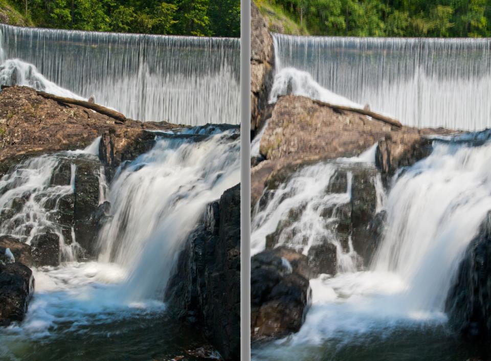 разница фотографий со стабилизацией и без