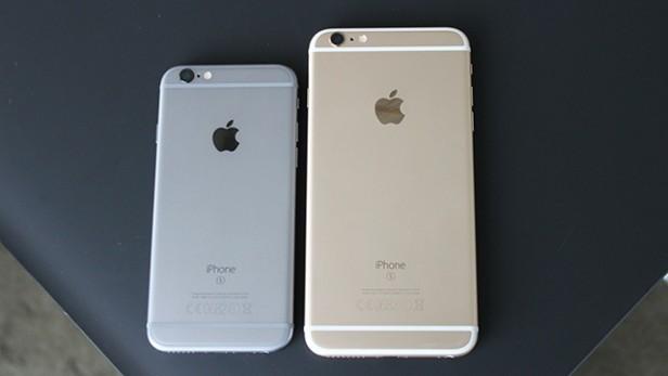 Сравнение габаритных размеров смартфонов iPhone 6s и iPhone 6s Plus